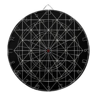 La geometría sagrada del templo cristalino tablero dardos