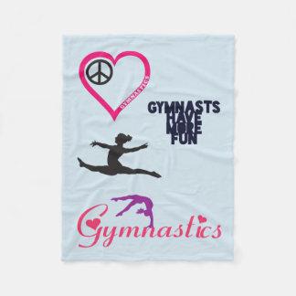 La gimnasia está en mi manta del corazón