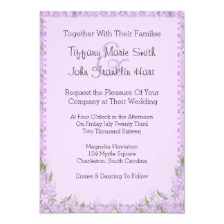 La glicinia florece la invitación del boda invitación 12,7 x 17,8 cm