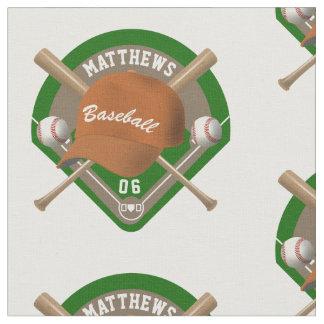La gorra de béisbol golpea número conocido tela