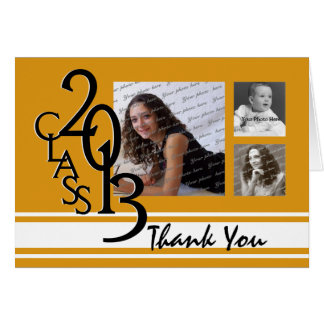 La graduación 2013 del naranja le agradece tarjeta