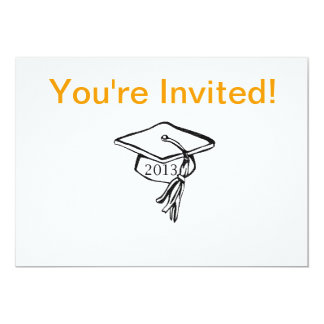 La graduación básica invita invitación 12,7 x 17,8 cm