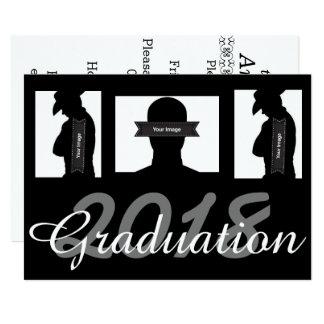 La graduación de encargo invita a la tarjeta con invitación 12,7 x 17,8 cm