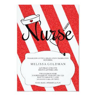 La graduación de la enfermera del RN invita a Invitación 12,7 X 17,8 Cm