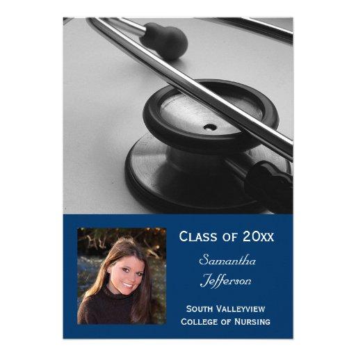 la graduación de la foto del oficio de enfermera d comunicado personal