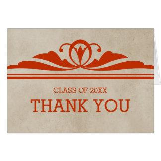La graduación elegante anaranjada de Deco le Tarjeta De Felicitación
