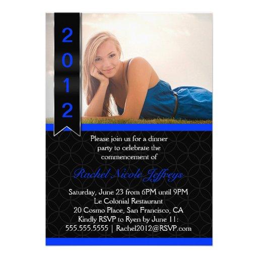 La graduación graduada 2012 de la foto de la volut invitación personalizada