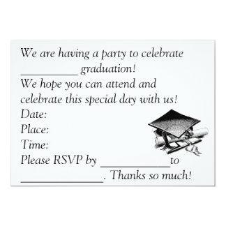 La graduación invita invitación 12,7 x 17,8 cm