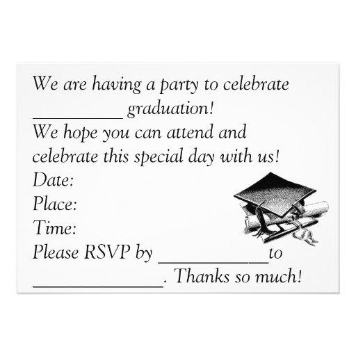 La graduación invita invitación
