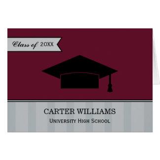 La graduación le agradece el rojo marrón de las tarjeta pequeña