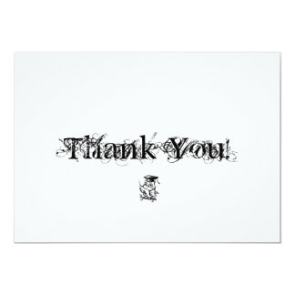 La graduación le agradece las tarjetas con el búho invitación 12,7 x 17,8 cm