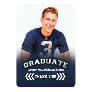 La graduación le agradece las tarjetas planas de invitación 12,7 x 17,8 cm