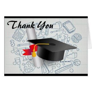 La graduación le agradece tarjeta de nota