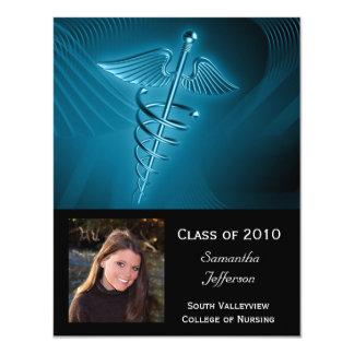 La graduación médica de la foto del logotipo invitación 10,8 x 13,9 cm