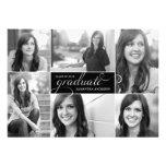 La graduación moderna de la escritura de 6 fotos i invitación