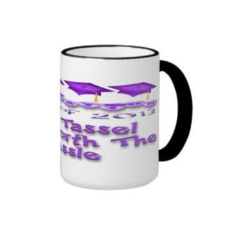 La graduación púrpura capsula las tazas