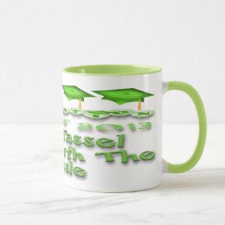 La graduación verde capsula las tazas