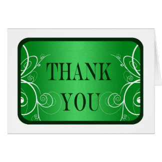 La graduación verde y blanca del marco le agradece tarjeta pequeña