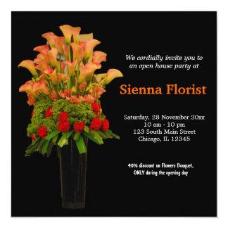 La gran inauguración florece el ramo invitación 13,3 cm x 13,3cm