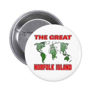 La gran ISLA de NORFOLK Chapa Redonda 5 Cm
