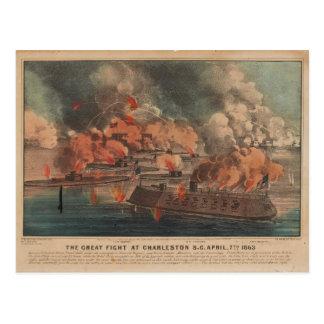 La gran lucha en la guerra civil de Charleston Postal