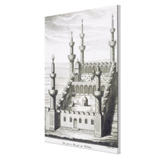 La gran mezquita en Medina, de 'en Arabi de los vi Impresión En Lienzo