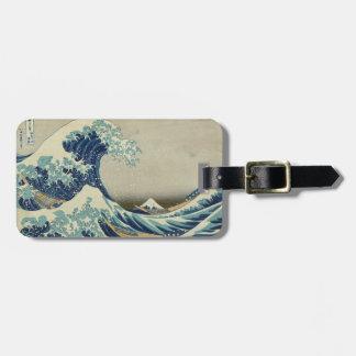 La gran onda de Kanagawa Etiqueta Para Maletas