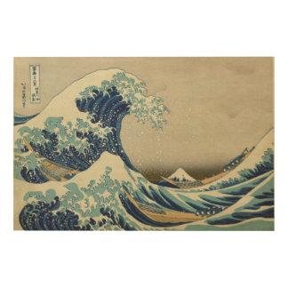 La gran onda de Kanagawa - Katsushika Hokusai Impresión En Madera