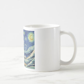 La gran onda de Kanagawa - la noche estrellada Taza De Café