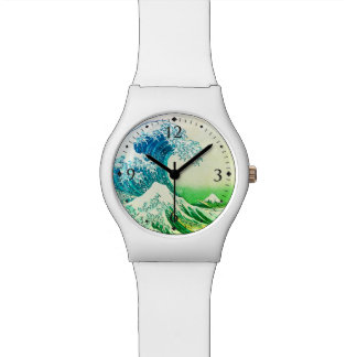 La gran onda de Kanagawa Relojes De Pulsera