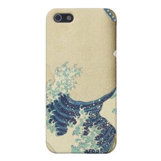 La gran onda de la orilla de Kanagawa iPhone 5 Protectores
