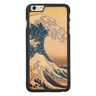 La gran onda funda de arce para iPhone 6 plus de carved