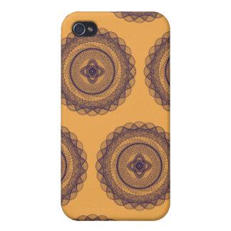 La gran púrpura Brown del diseño iPhone 4 Fundas