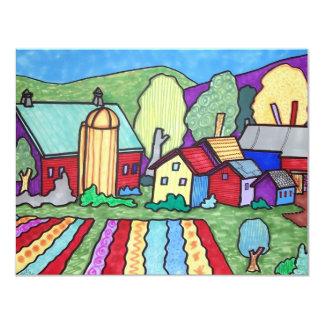 La granja de Quentin Invitación 10,8 X 13,9 Cm