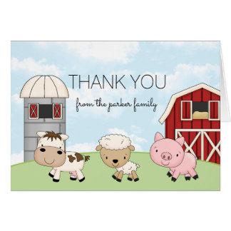 La granja del corral le agradece │ de la tarjeta