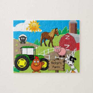 La granja del niño personalizado puzzle