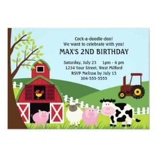 La granja embroma cumpleaños invitación 12,7 x 17,8 cm