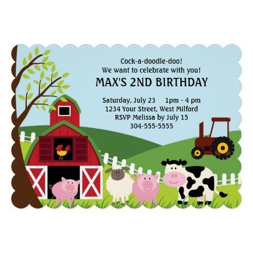 La granja embroma cumpleaños invitacion personalizada