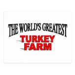 La granja más grande de Turquía del mundo Tarjetas Postales