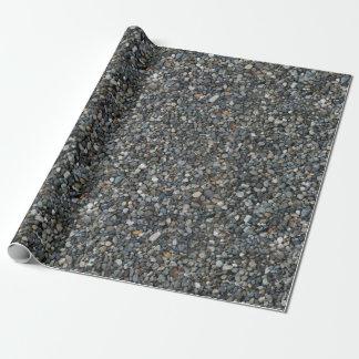 La grava del guisante gris oscila los guijarros papel de regalo
