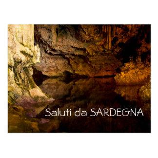 La gruta de Neptuno, postal del texto de Cerdeña