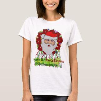 La guerra de Santa en Navidad Camiseta