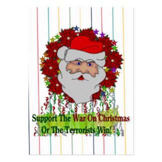 La guerra de Santa en Navidad Plantillas De Tarjetas De Visita