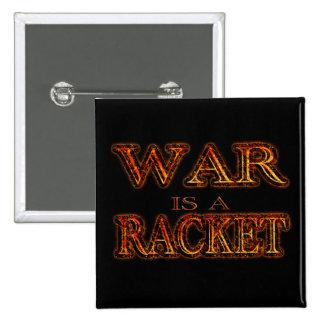 La guerra es una estafa - guerra anti - fuego negr chapa cuadrada 5 cm