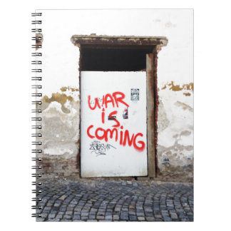 La guerra está viniendo cuaderno