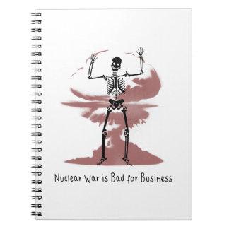 La guerra nuclear es mala para el negocio cuaderno