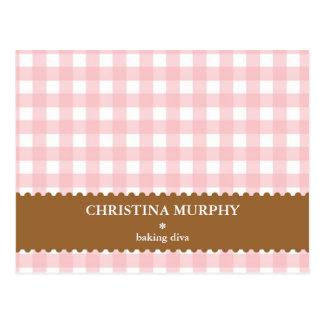 La guinga marrón rosada alineó la tarjeta conocida
