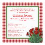 La guinga roja de los tulipanes comprobó el alumer anuncios personalizados