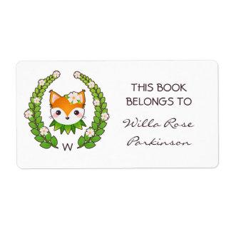 La guirnalda floral del Fox este libro pertenece a Etiquetas De Envío