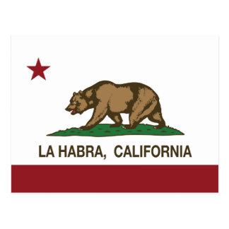 La Habra de la bandera del estado de California Tarjetas Postales